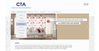 site internet CTA Confection Textile